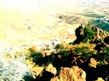 Looking down over Jerome, AZ