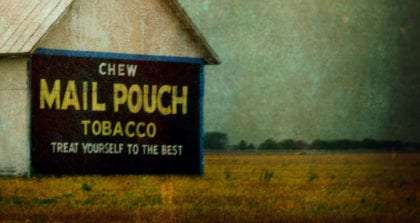 treated photo of a Mail Pouch Tobacco barn