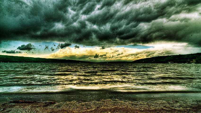 Storm over Lake Cayuga