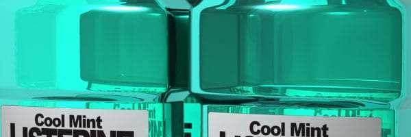 bottles of green Cool Mint Listerine