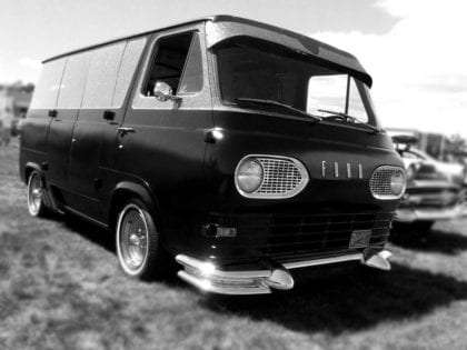 a vintage Ford Econoline van, truly a classic
