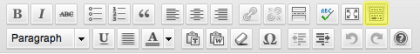 the kitchen sink in WordPress Content Editor toolbar