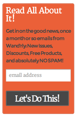 the finished result of our newsletter signup form efforts