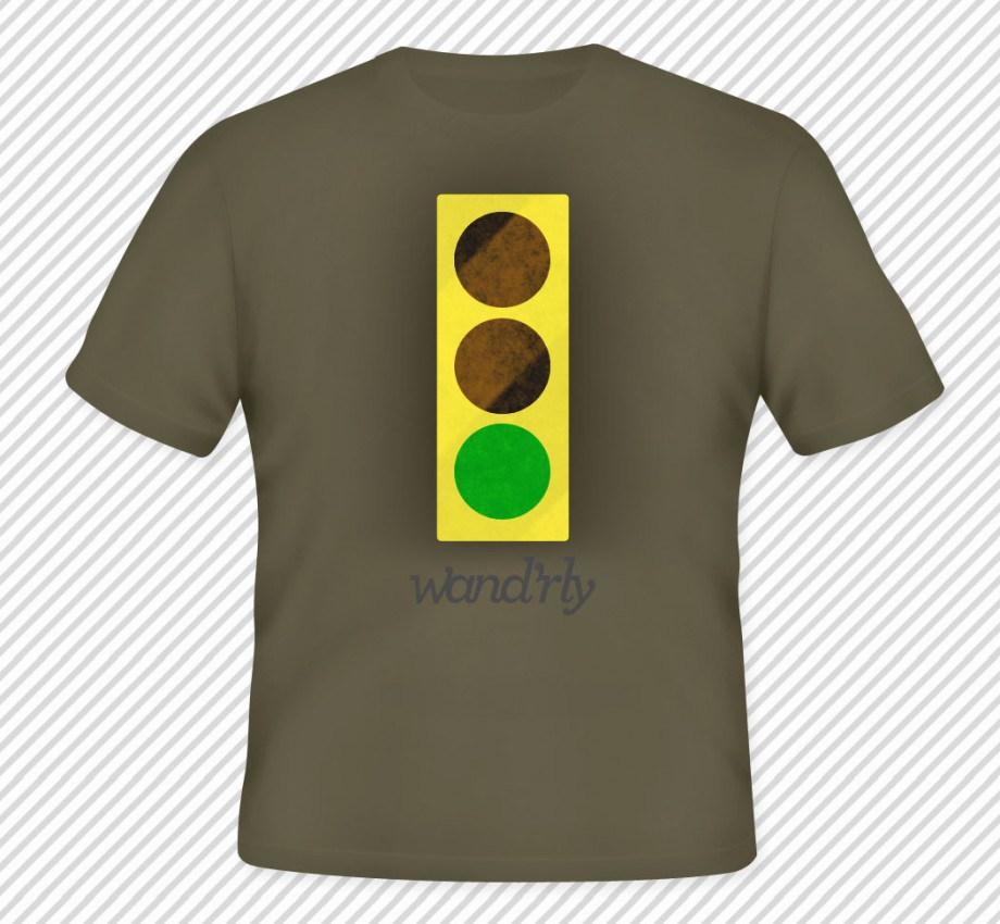 traffic light set to green, wandrly logo below