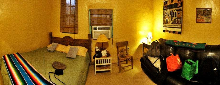 a quaint but funky room at Chinati Springs