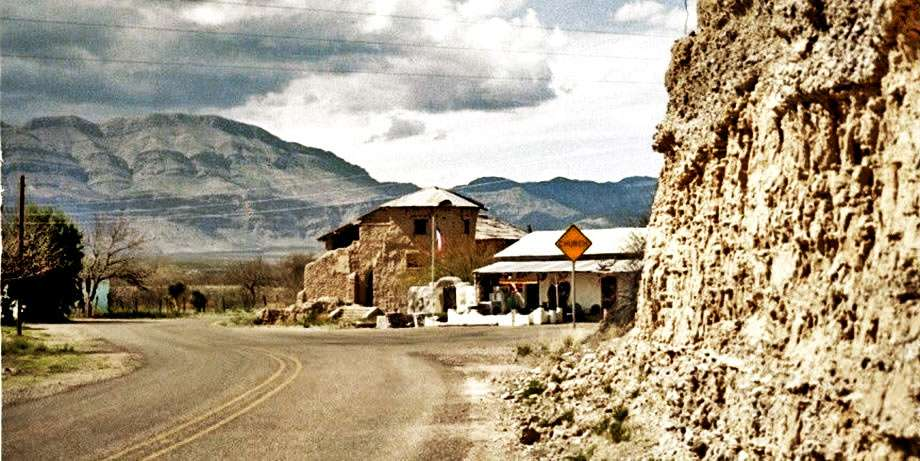 A small town, a ghost town really, in the mountains of west texas