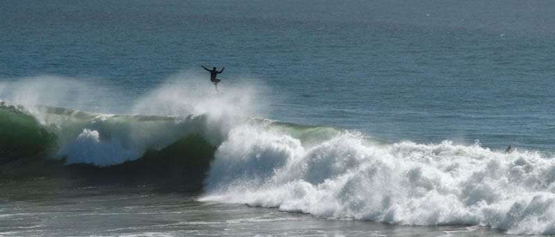 Surfer near Santa Cruz, California