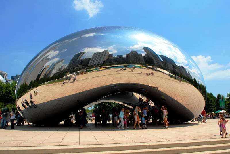The Bean.  Chicago, Illinois