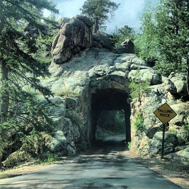 a tunnel carved through the Black Hills