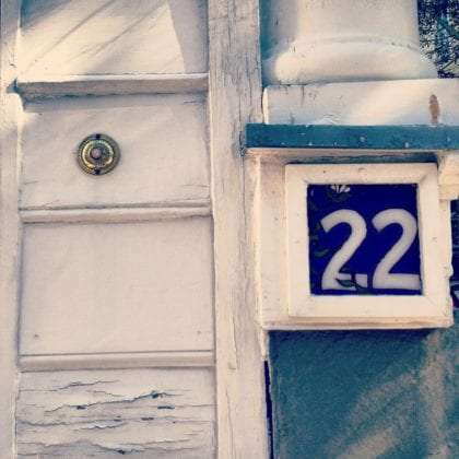 a house numbered 22