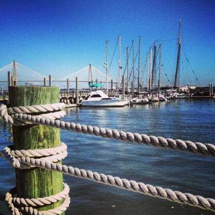 boats docked in charleston harbor
