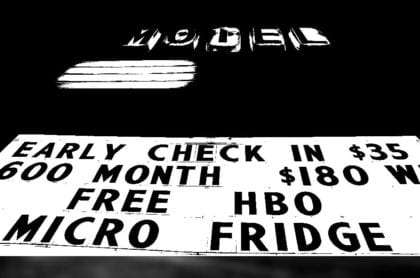 a road sign claiming free hbo
