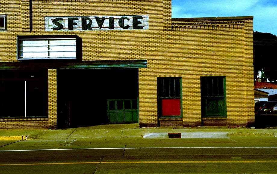 a sign reads Service