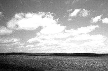 a midwestern sky above the plains