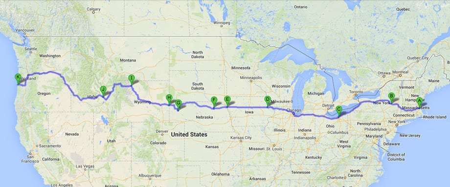 Summer Roadtrip Series US Route The Midwest - Western us road trip map
