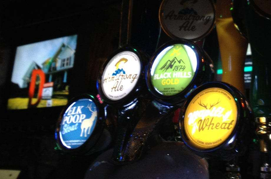 four beer taps