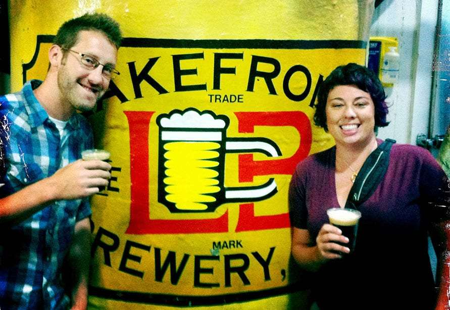 Brian and Maria of the Roaming Pint, at Lakefront Brewery