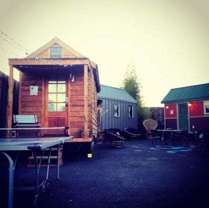 three tiny houses in Portland, Oregon