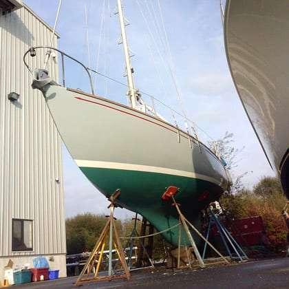 a newly refurbished boat