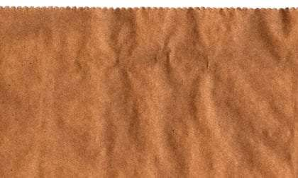 a brown paper grocery bag