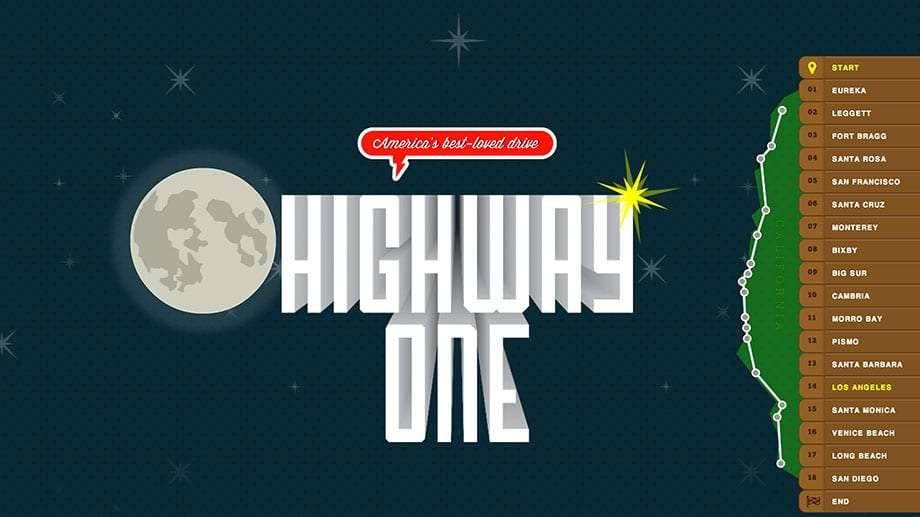 a screenshot of the highway one website