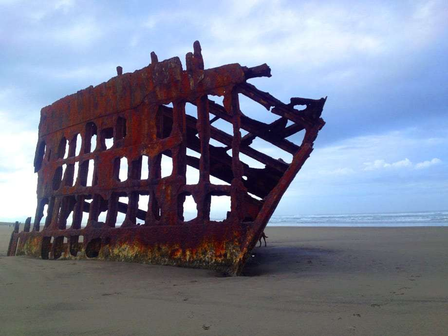 the remnants of a shipwreck