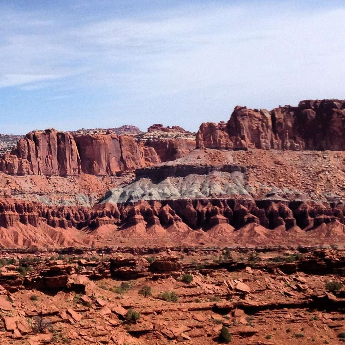 sandstone painted red from iron in Capitol Reef National Park