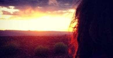 My lady, sunset over page arizona