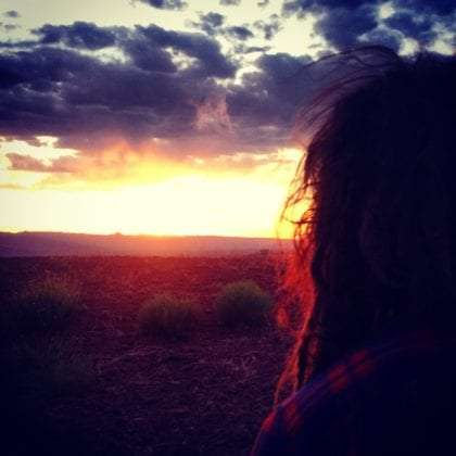 My lady, sunset over page arizona