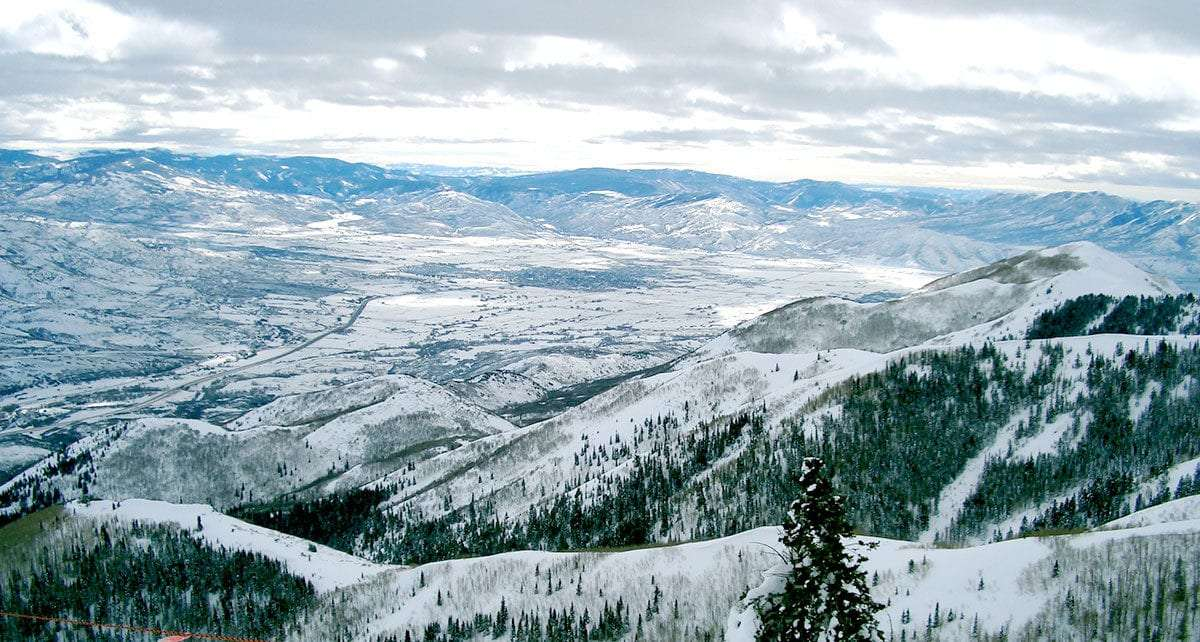 snowy mountains of utah