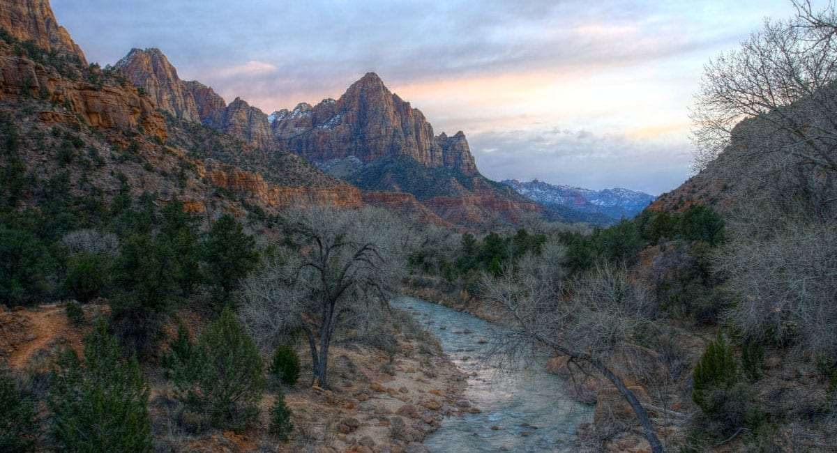 Sunset at Zion National Park. Photograph by Rene Schwietzke