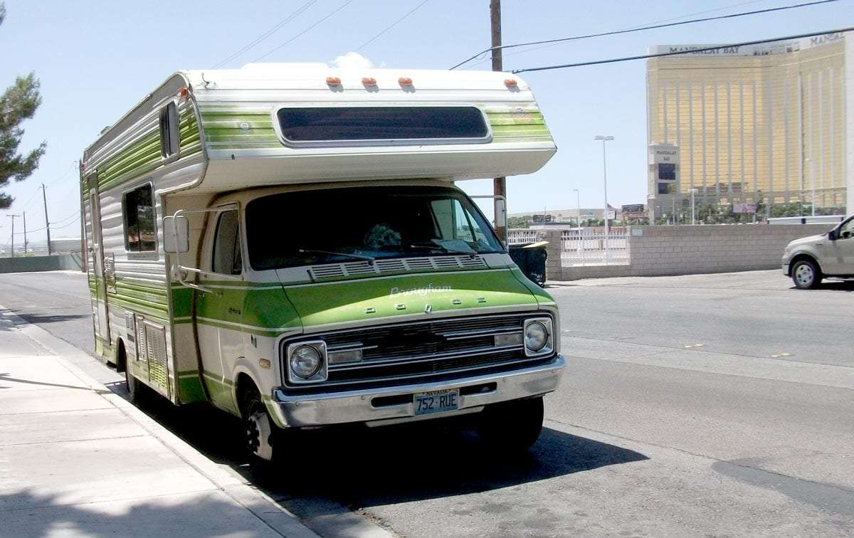 A good looking old Dodge Motorhome, probably from the mid-70s. Photo by Dave 7