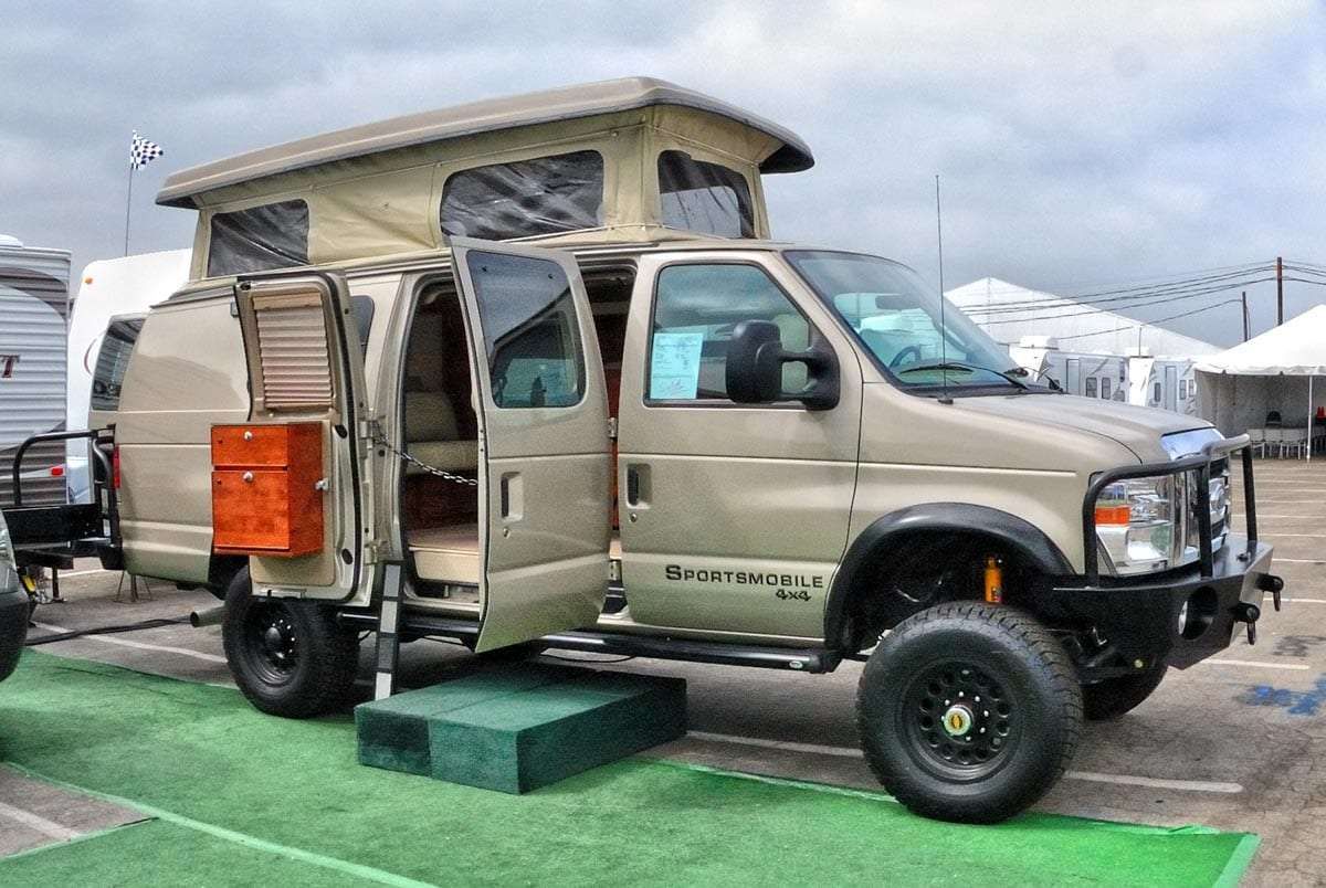 a bad ass van kitted out to live the backcountry life