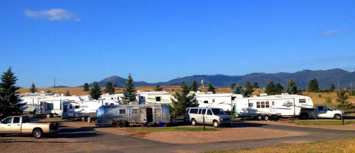 A Sea Of Different Types RVs Populating An RV Park In Missoula Montana