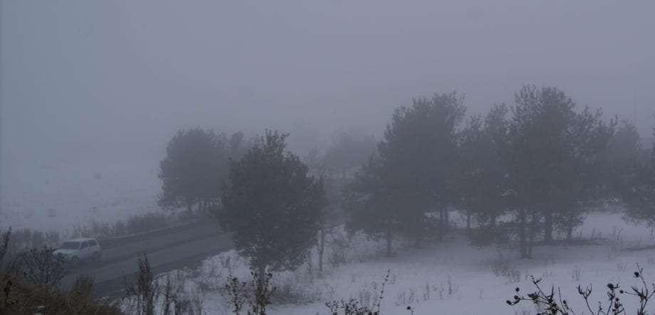 Armenia, winter, roads, hitchhiking Sevan