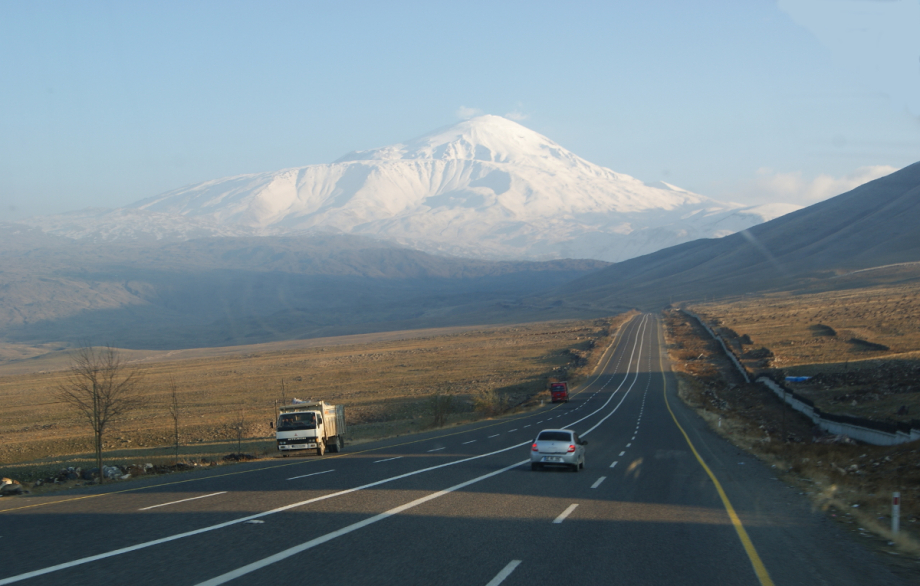 Ararat, Turkey, Armenia, hitchhiking, roads, wandering, journey