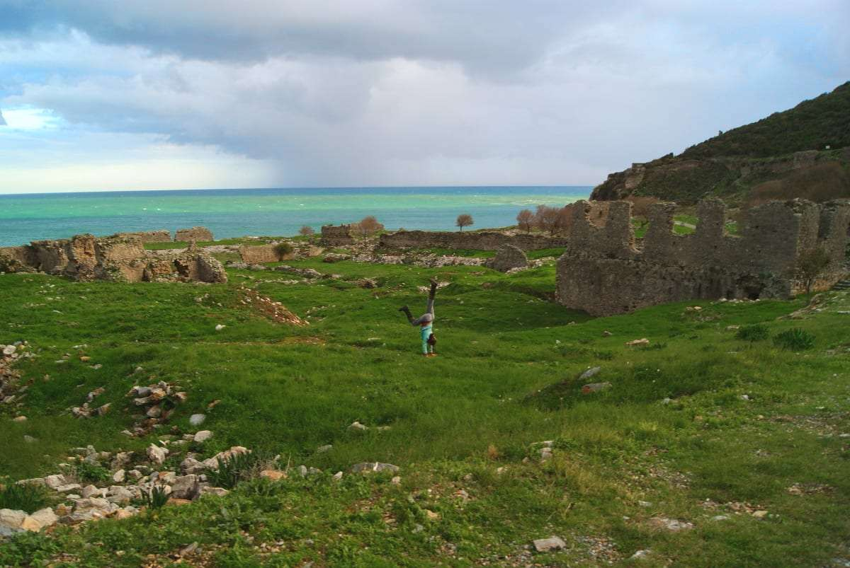Anamurium, Anamur, Turkey, hitchhiking, ruins