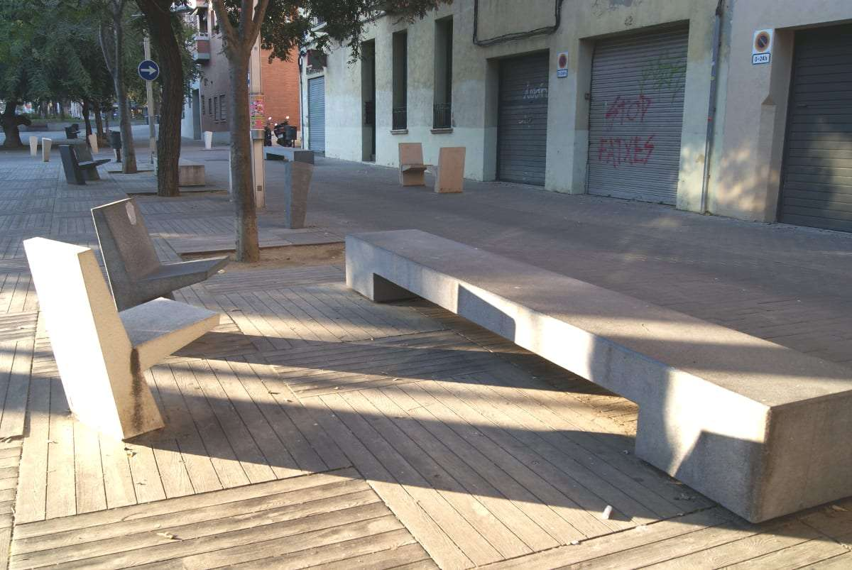 Barcelona, bench, street furniture