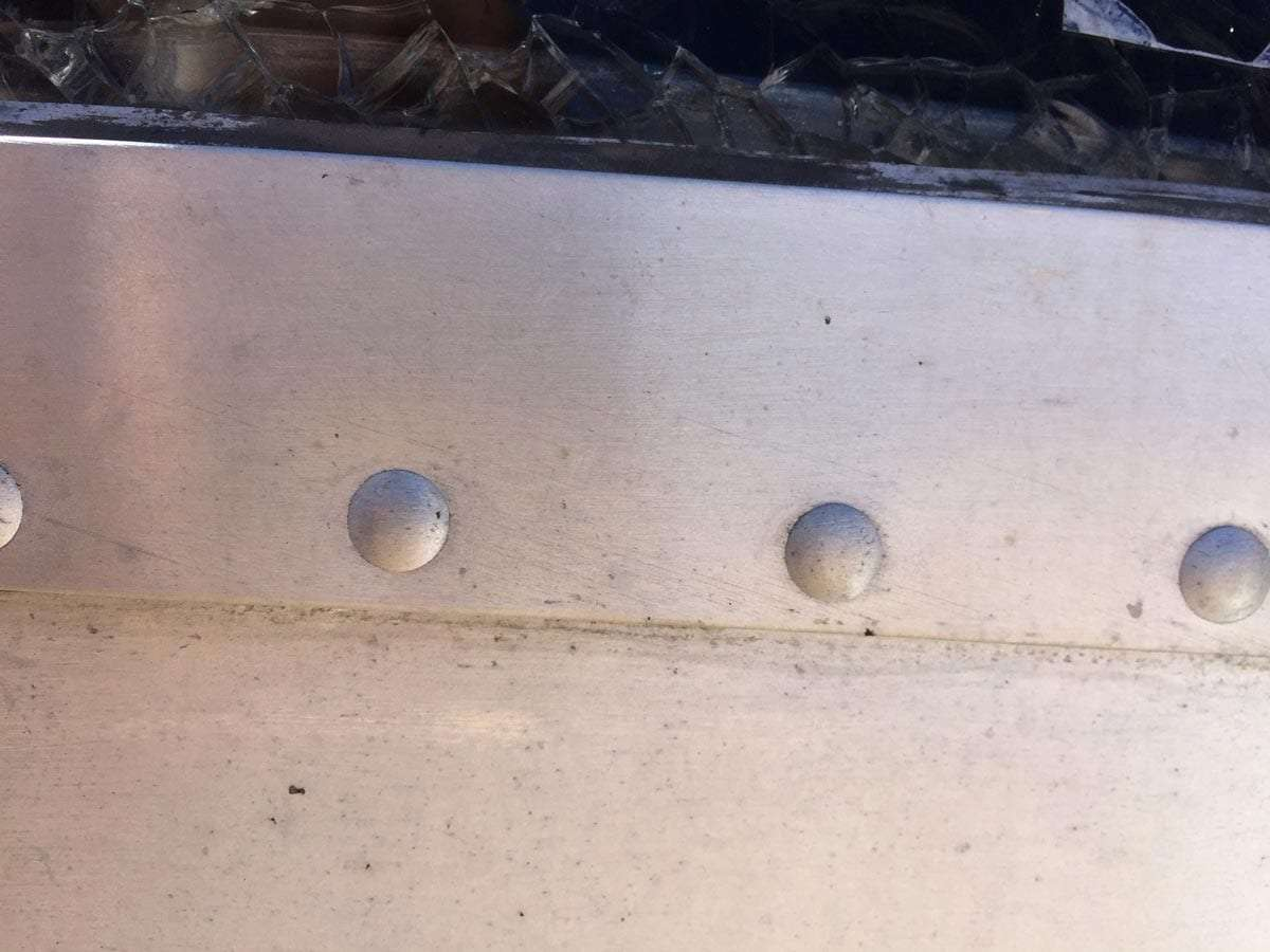 original rivets with a perfectly smooth head