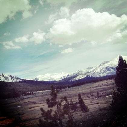 approaching Tioga Pass from the east on California Route 120