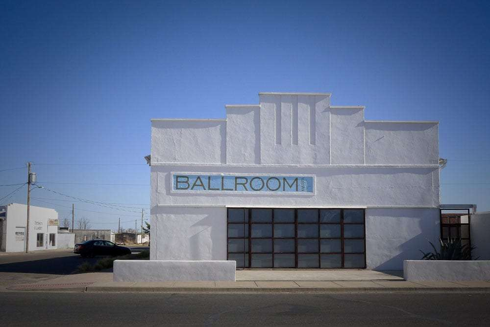 a white building reads ballroom