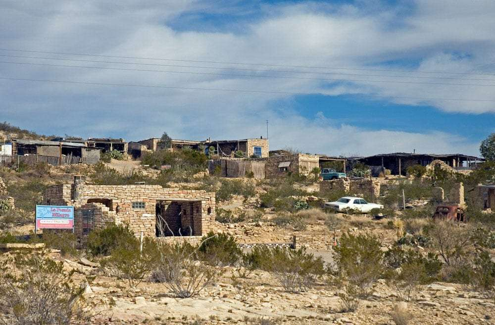the ruins of the Terlingua Ghost town
