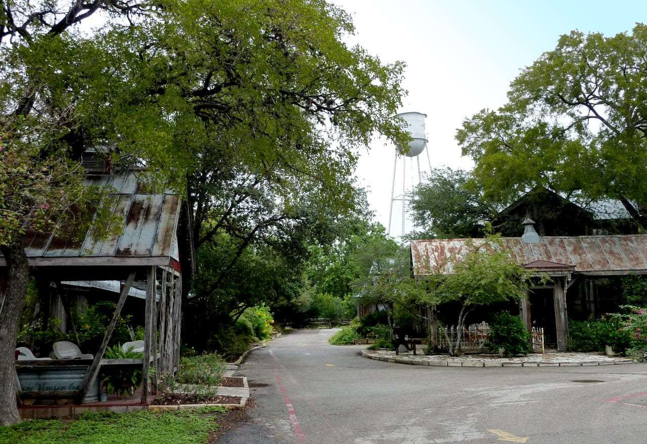 a rare quiet moment on the backstreets of Gruene, Texas