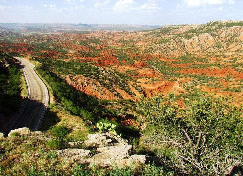 colorful canyon in Texas