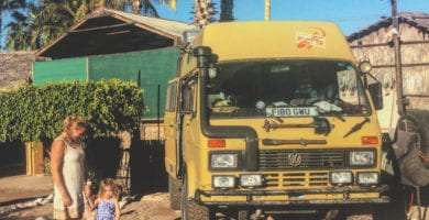a 1989 Volkswagen LT parked in Rivera del Mar, Loreto, Baja California Sur