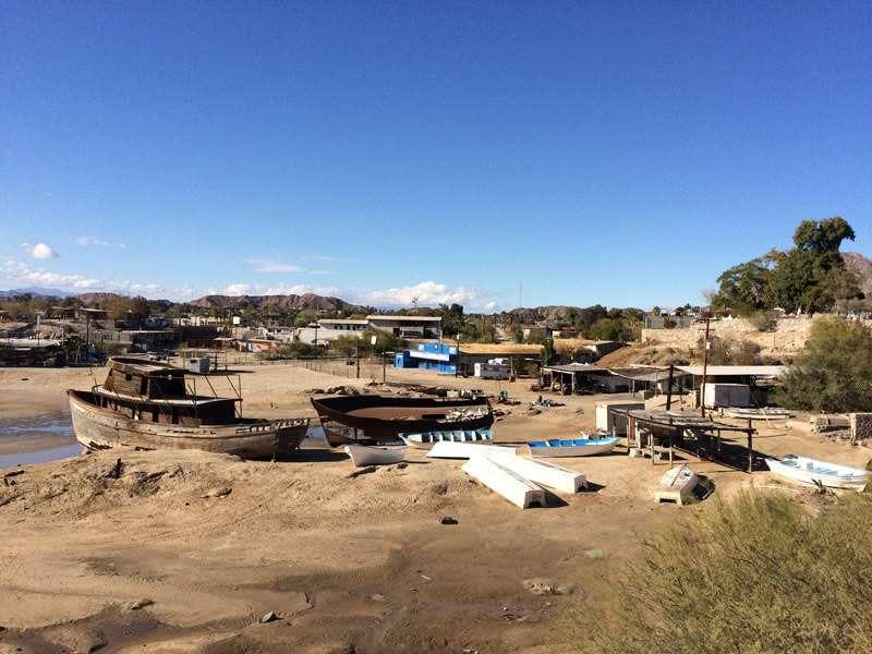 Abandoned boats in San Felipe.