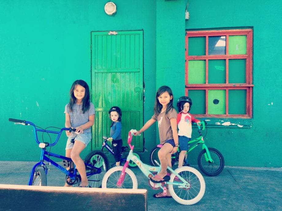 Our younger companions and the colors of San Felipe.