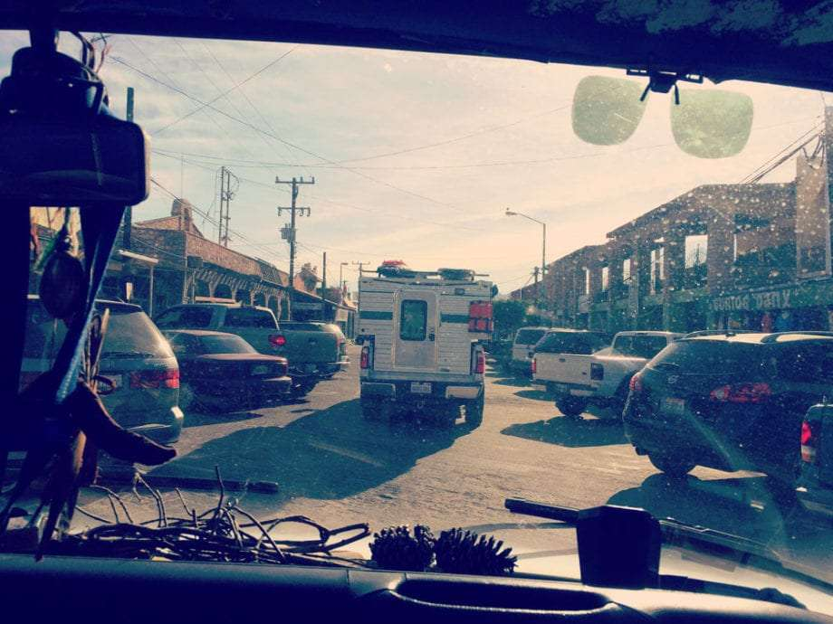 Driving the streets of San Felipe, Baja.