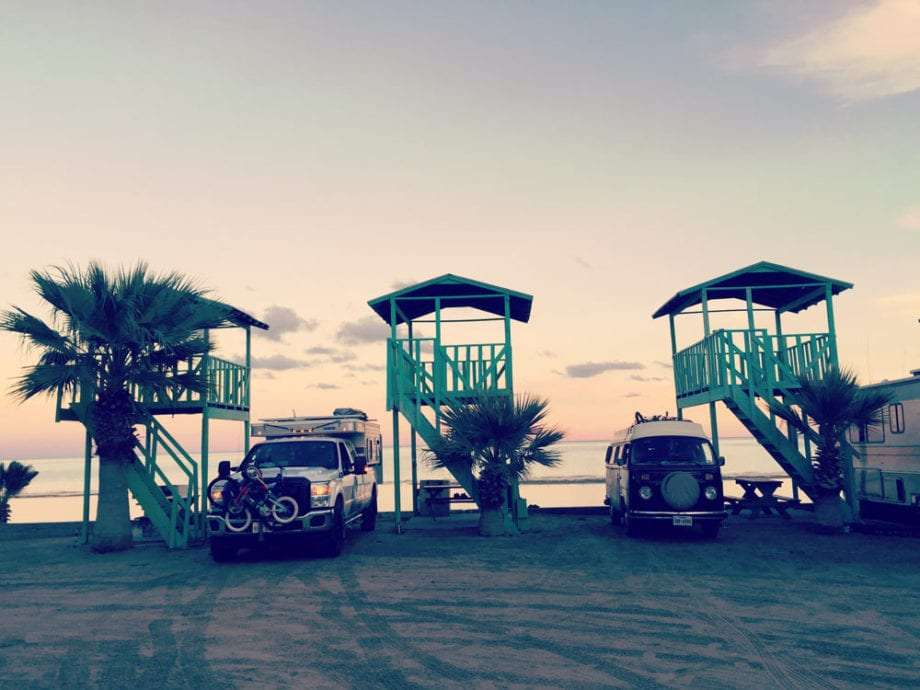 Camping at La Palapa RV Park within walking distance to San Felipe's restaurants and shops.