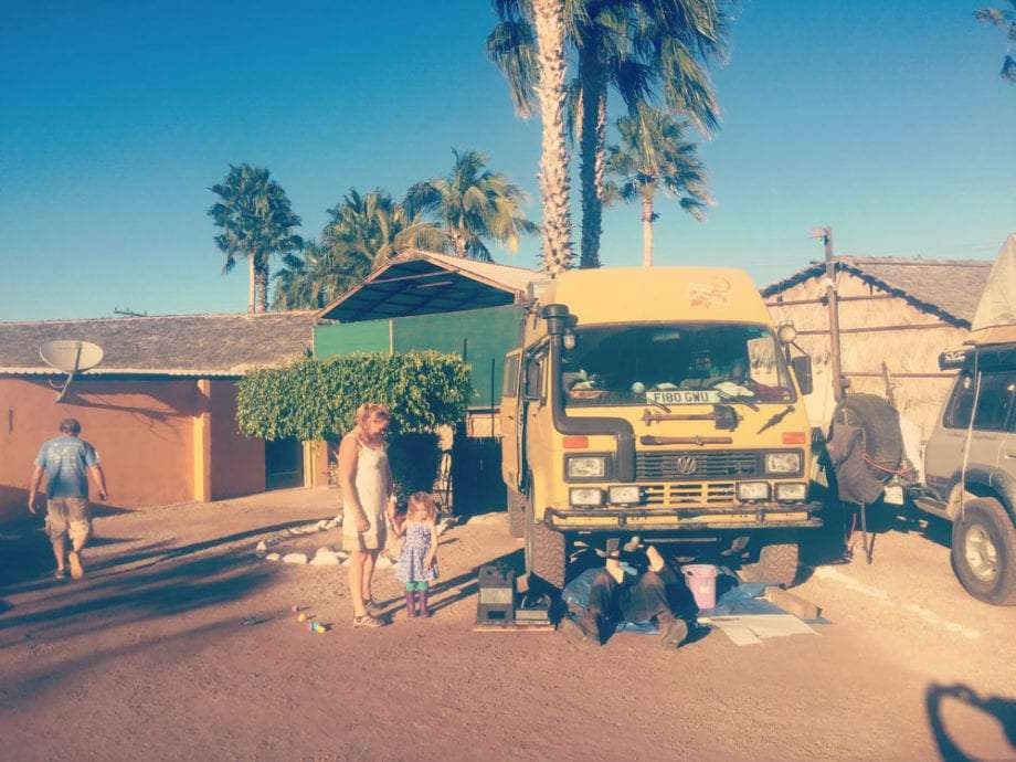 a VW LT in Loreto, Baja California Sur